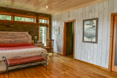 Bedroom Weathered White Barnwood Paneling