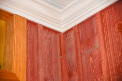 Weathered Red Barnwood Close-up