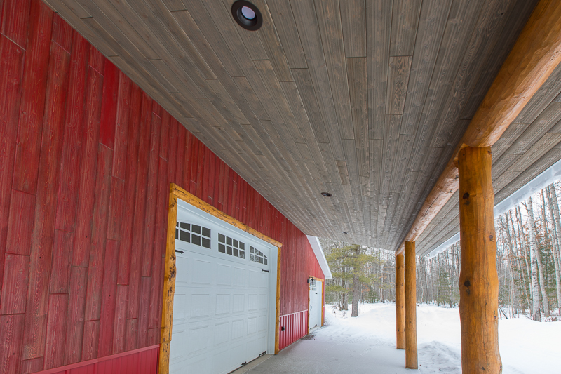 Cedar Weathered Red and Weathered Gray Paneling for the Exterior