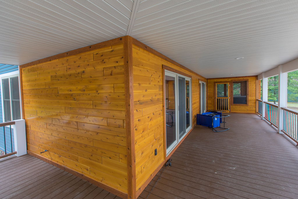 Paneling use of Cedar on the Porch