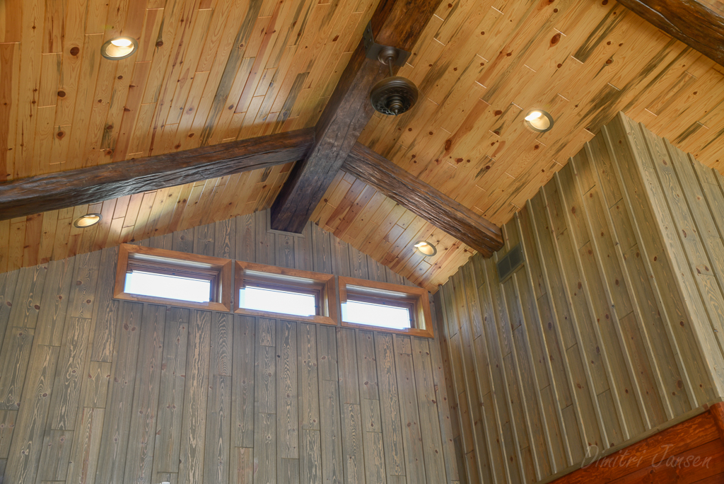 Discount Paneling - Blue Stain Ceiling